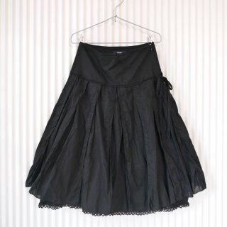 PINK HOUSE レイヤードフリルレーススカート/Black