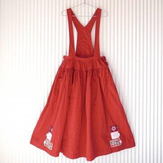 PINK HOUSE フラッグワッペン吊りギャザースカート