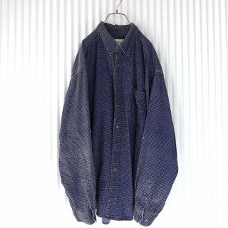 モーヴチェックBIGコーデュロイシャツ/XXL