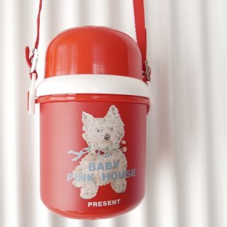 PINK HOUSE テリアわんちゃん水筒