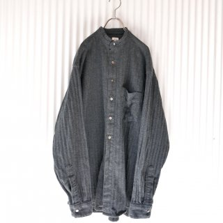 GARY PAUL バンドカラーツイードシャツ/USA