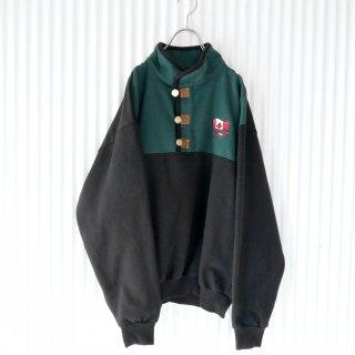 メープルリーフフラッグ刺繍スタンドカラースウェット/CANADA