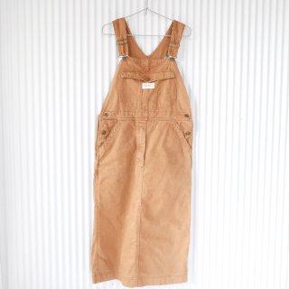 PINK HOUSE ロゴワッペン コットンデニムジャンパースカート