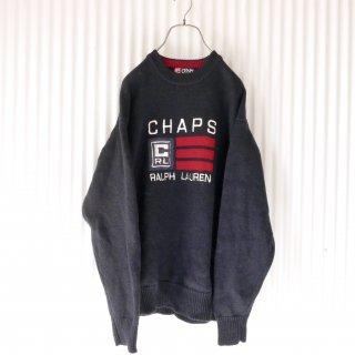 CHAPS RALPH LAUREN ロゴ刺繍ニット