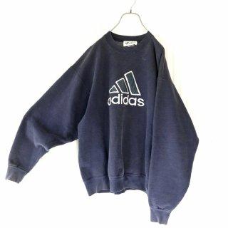 adidas ロゴ刺繍BIGスウェット/navy