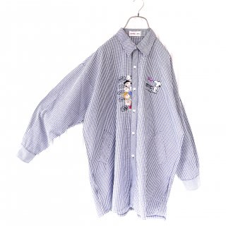 PEANUTS SNOOPY/スヌーピーと仲間たち刺繍ポケットシャツ