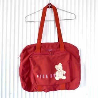 PINK HOUSE リボンくまちゃんコットンスクールバッグ