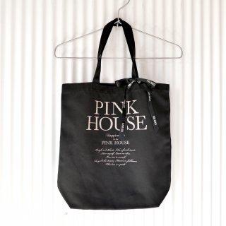PINK HOUSE 黒リボン ロゴトートバッグ/ブラック