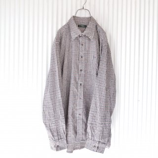 TOROY パイプ刺繍BIGネルチェックシャツ/4L