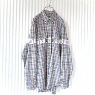 WONDERFUL WORLD ぐるりくまちゃんワッペンB.Dシャツ