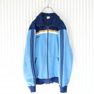adidas トレフォイル刺繍ヴィンテージトラックジャケット/水色
