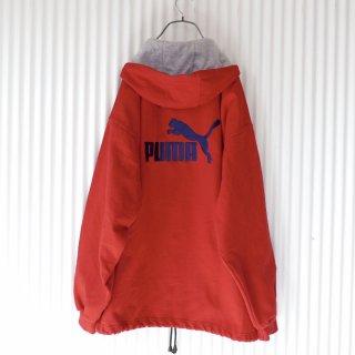 PUMA バックロゴ刺繍 BIGスウェットフーディ/XXL