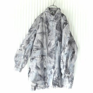 アイスカラー水彩パターンロングジャケット