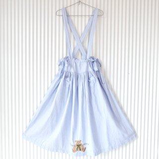 WONDERFUL WORLD リボンテディ刺繍 フレア吊りスカート