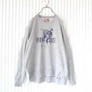 PINK HOUSE マーチングキャットスウェット/gray/navy