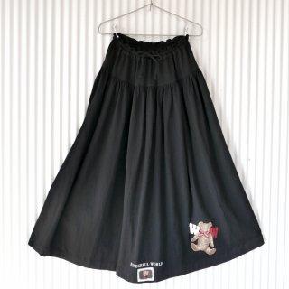 WONDERFUL WORLD リボンテディギャザースウェットスカート