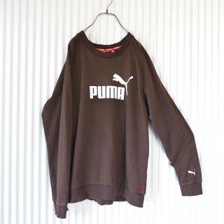 PUMA ロゴラグランスウェット/ココアブラウン