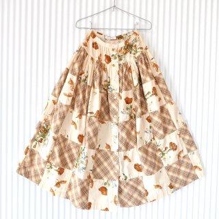 KANEKO ISAO アンティークフラワー フロントボタンスカート