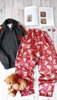 おやすみくまちゃんサテンパジャマパンツ
