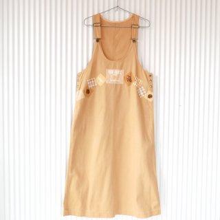 PINK HOUSE クッキーくまちゃん刺繍×ワッペンジャンパースカート
