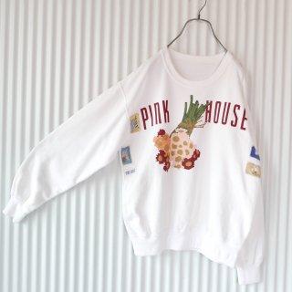 PINK HOUSE カーネーションブーケ×ワッペンスウェット