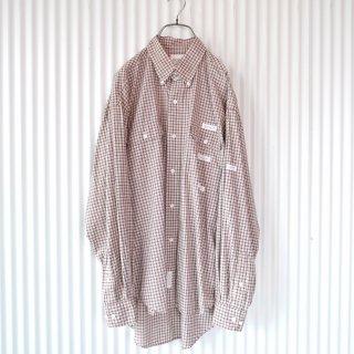 Karl Helmut ロゴワッペン×チェック B.Dシャツ