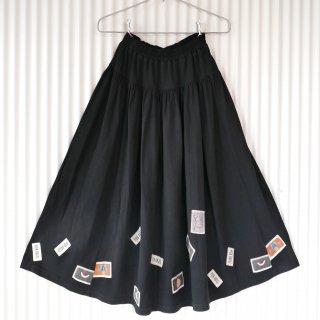 PINK HOUSE くまちゃん×ロゴワッペン スウェットフレアスカート