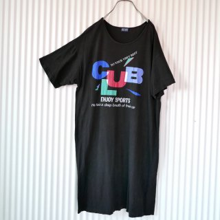 80's CLUB プリントTシャツワンピース