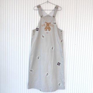 PINK HOUSE 小花うさぎ刺繍ジャンパースカート