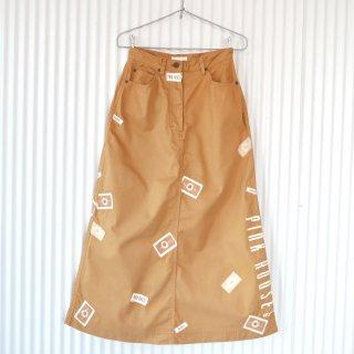 PINK HOUSE デイジーワッペン×縦ロゴスカート