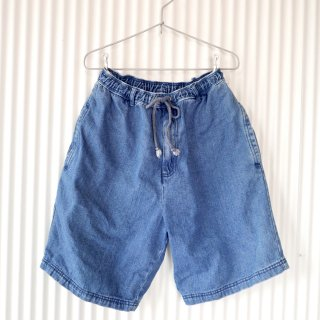Denim easy half pants