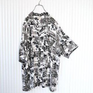 Panama Jack モノトーン×バイク BIG RAYONシャツ/3XL
