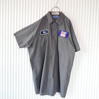 BIG ワークシャツ/ワッペン/2XL