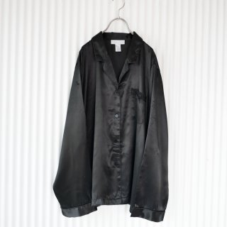 MORGAN TAYLOR ポケットリボン satinパジャマシャツ