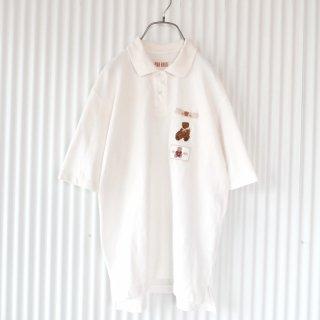 PINK HOUSE スカーフくまちゃん刺繍×ワッペン ポロ