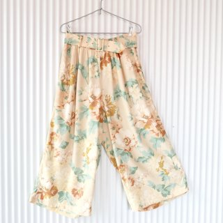 BIG FLOWER VISCOSE wide pants