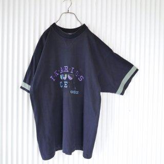 adidas リブネック刺繍Tee/XL