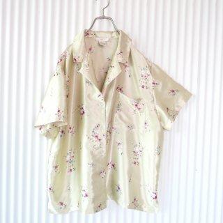 チャイナフラワー サテンパジャマシャツ