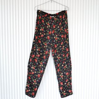 Red flower RAYON eazy pants
