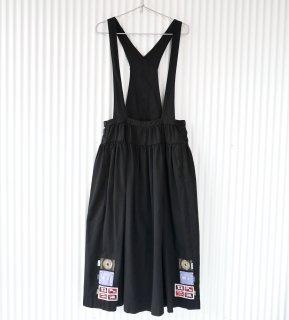 PINK HOUSE フラッグワッペンフレア吊りスカート