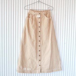 PINK HOUSE ロゴ×フロントボタンスカート/Beige