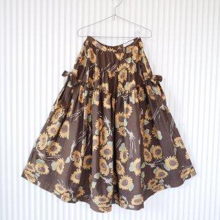 KANEKO ISAO ひまわりブラウン フレアロングスカート