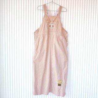 花籠刺繍×ワッペン レトロジャンパースカート