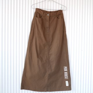 PINK HOUSE シンプルロゴ×Aラインスカート/Brown