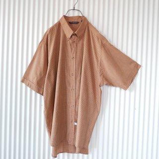 GIORGIO スモールチェックB.Dシャツ/XL