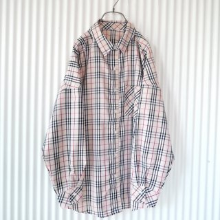 Beige check shirt
