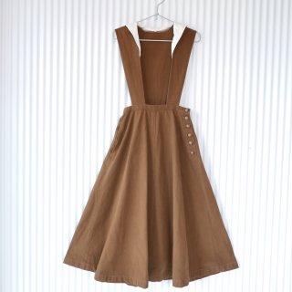 KANEKO ISAO セーラー襟ジャンパースカート/Brown