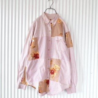 PINK HOUSE くまちゃんギンガムB.Dシャツ