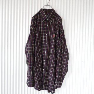 POLO刺繍 オータムチェックBIGシャツ