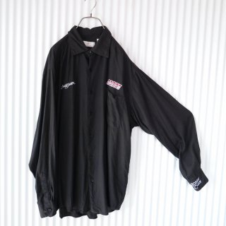BOBBY CHAN Black silk shirt